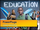 PowerPoint Template - Young kids are ready for school. Education family learning diversity