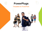 PowerPoint Template - Young kids are ready for school.
