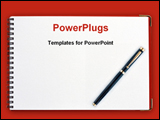 PowerPoint Template - School report card with a pen