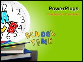 PowerPoint Template - Study time conceptual image of education & knowledge