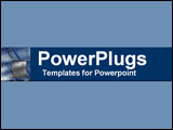PowerPoint Template - Blue and gray collage of scale on electronic equip