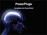 PowerPoint Template - image of a human brain