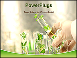 PowerPoint Template - small plants in test tube