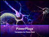 PowerPoint Template - illustration of neurons in the brain