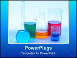 PowerPoint Template - A Chemical glassware with different colored liquids