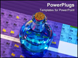 PowerPoint Template - Photo of Flask on a Periodic Chart - Potion / Science
