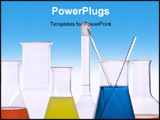 PowerPoint Template - picture of seven pieces of laboratory equipment