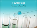 PowerPoint Template - blue drop from a pipette in a science lab