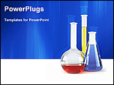 PowerPoint Template - image showing chemical flasks with reagents