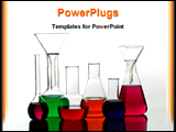 PowerPoint Template - image showing chemical glass