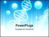 PowerPoint Template - science background with DNA theme and copyspace for your text