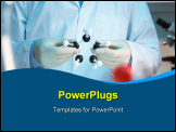 PowerPoint Template - Scientist holding molecular model in laboratory selective focus