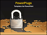 PowerPoint Template - picture showing worldwide security