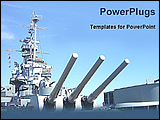 PowerPoint Template - image of a navy ship
