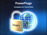 PowerPoint Template - world wide data security