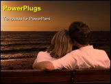 PowerPoint Template - couple in love, together on a park bench.