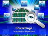 PowerPoint Template - oncept of the Internet. Image depicting the wide variety of resources available via the internet or