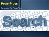 PowerPoint Template - Search color letters on a white keyboard