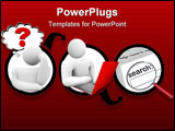 PowerPoint Template - A diagram of a person sending a message and it reaching wider and wider audiences
