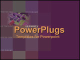 PowerPoint Template - A rich maroon montage of closeups of chip technology symbolizing network security