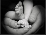 PowerPoint Template - a shot of an infant child feet in his father hands
