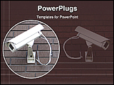 PowerPoint Template - image showing security cameras