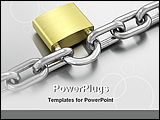 PowerPoint Template - image showing a lock and a chain