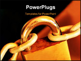 PowerPoint Template - Padlock and chain with golden tone. Security concept.