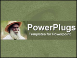 PowerPoint Template - Grandfatherly man with full white beard  set in light green: experience guiding new growth
