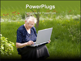 PowerPoint Template - Grandma In Garden