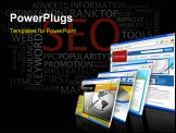 PowerPoint Template - SEO - Vector Search Engine Optimization poster on black background