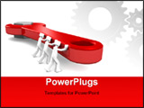 PowerPoint Template - 3d mans pushing the spanner 3d illustration isolated