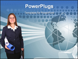 PowerPoint Template - Woman of businesses, very creative
