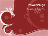 PowerPoint Template - Abstract background with abstract floral motives and forms.