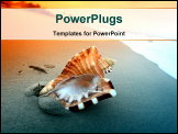 PowerPoint Template - shell on sand