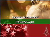 PowerPoint Template - Closeup of gold ornaments and stars on christmas color background