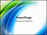 PowerPoint Template - Abstract shiny wave background. EPS 10.