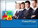 PowerPoint Template - The team members shoulder to shoulder each other