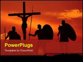 PowerPoint Template - Sleet warrior about the crucified Jesus