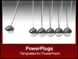 PowerPoint Template - Silver 3d pendulum with one ball swinging