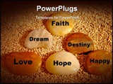 PowerPoint Template - Simplicity and Spiritual. Faith love hope happy dream destiny.