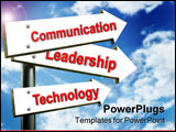 PowerPoint Template - sing for communication leadership technology