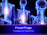 PowerPoint Template - Digital illustration of skeleton in color background