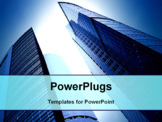 PowerPoint Template - futuristic skyscrapers of downtown