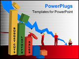 PowerPoint Template - budget cuts layoffs and dropped sales business model