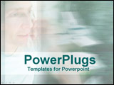 PowerPoint Template - Fresh faced man talks on phone with office wash in back