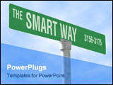 PowerPoint Template - a photo of a themed sign, the smart way