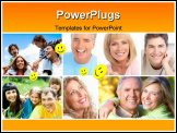 PowerPoint Template - Smiles and teeth of beautiful people. Seniors