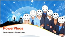 PowerPoint Template - business people smiles