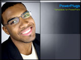 PowerPoint Template - African American man smiles friendly.